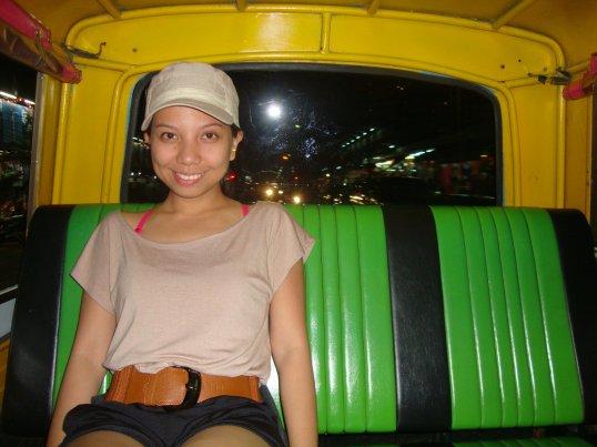 Inside a tuk tuk:)