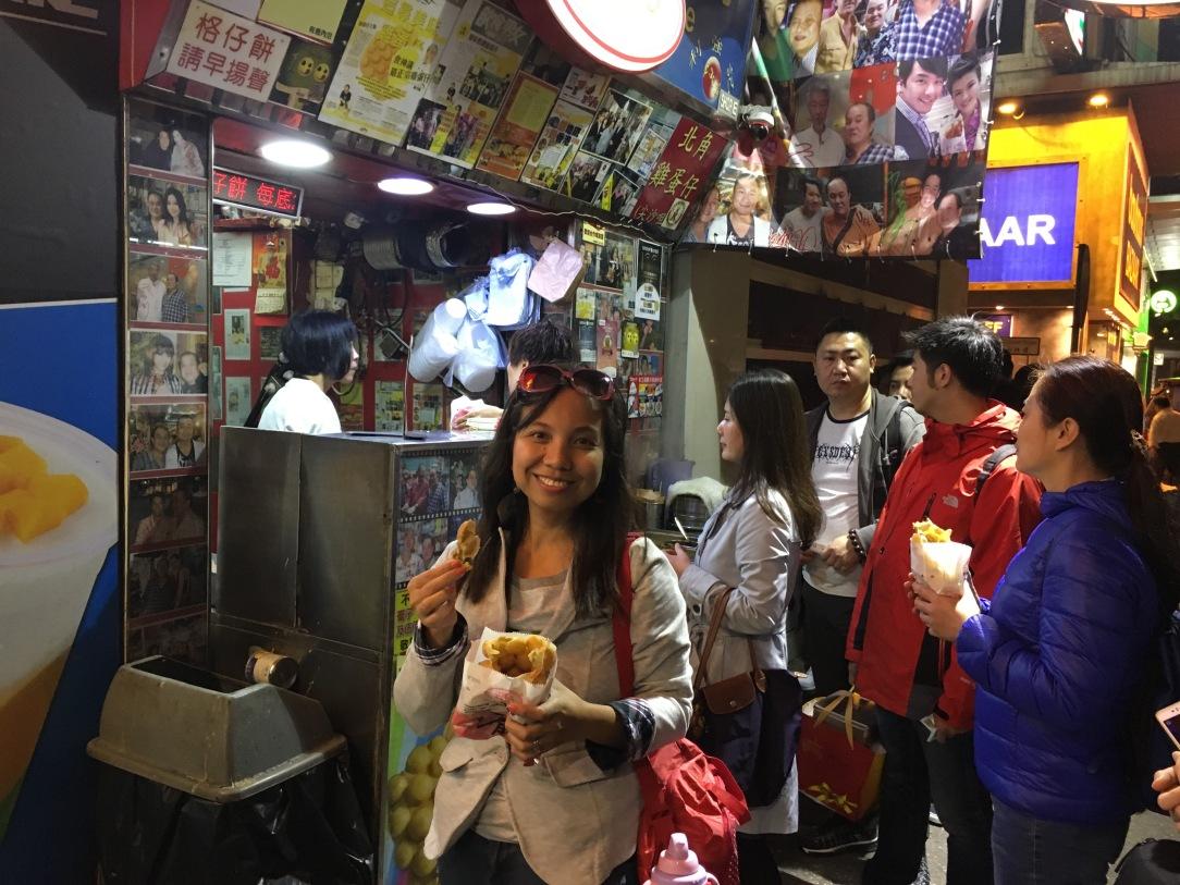 most famous waffle in hong kong, tourist in hong kong, waffle hong kong,