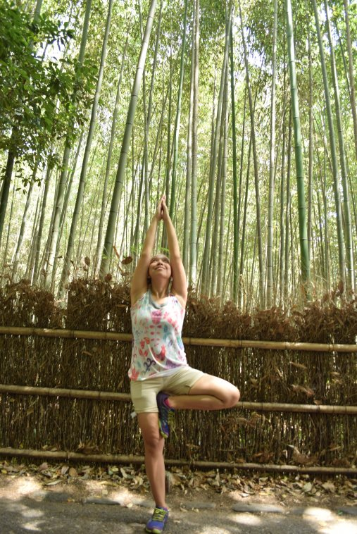 Bamboo Forest Japan with Baby