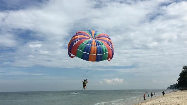 Batu Ferringhi Beach parasailing