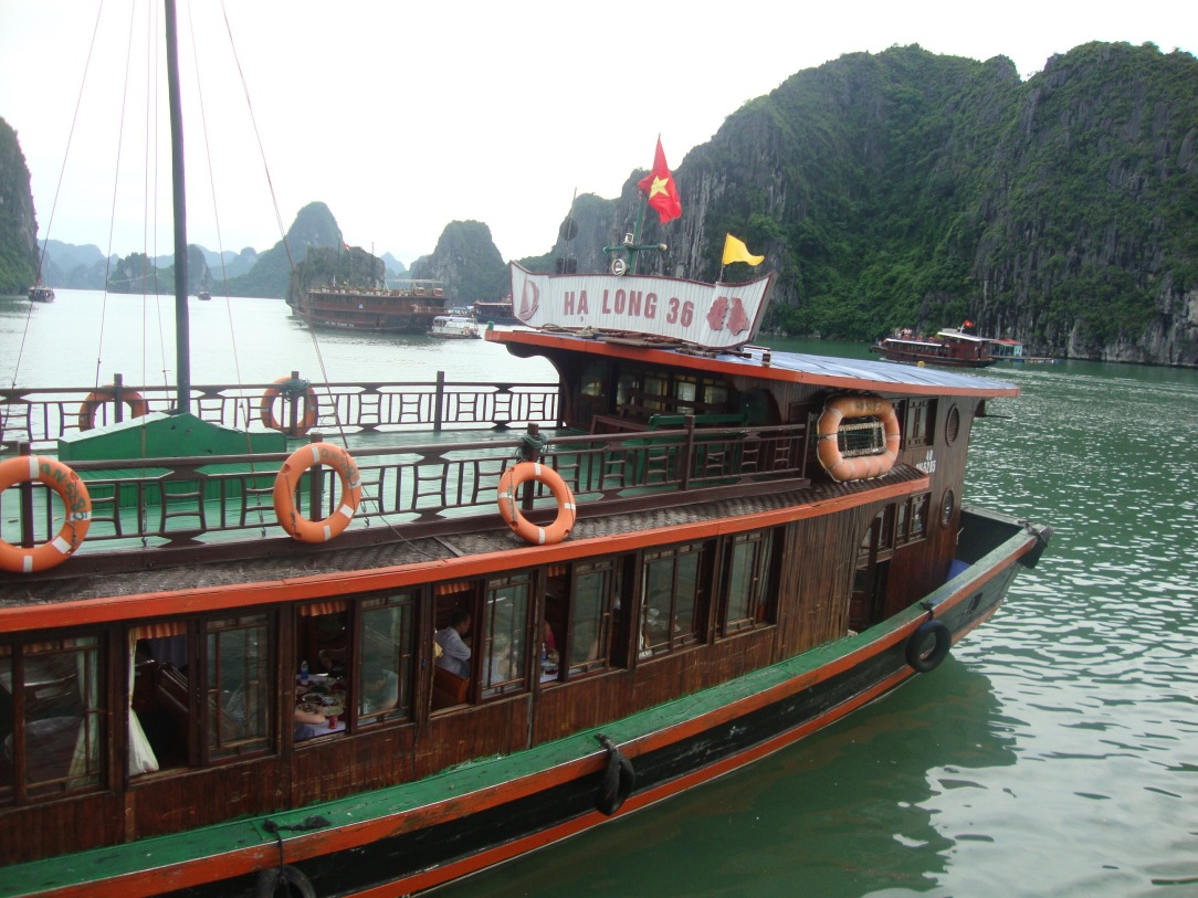 Halong Bay, vietnam blogger, classic boat in halong bay, day trip in halong bay , vietnam