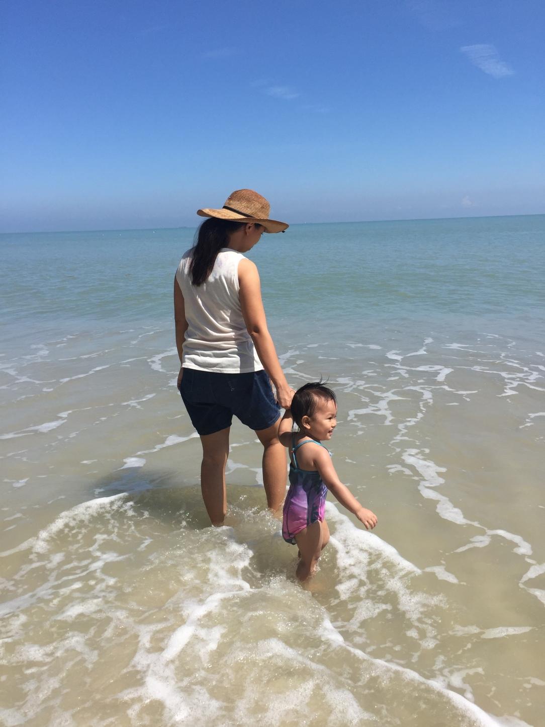 nature rich parenting, beach with toddler, penang beach, Vitamin N book review, richard louv