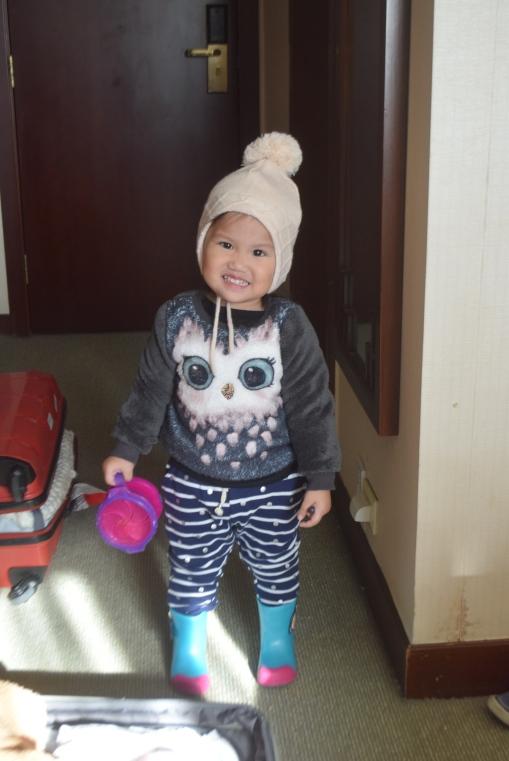 Beijing in winter with toddler