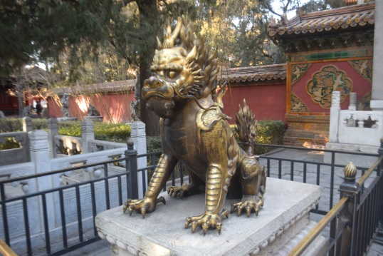 Beijing Forbidden city with toddler