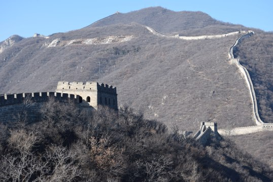 Mutianyu Great Wall of china with Kids