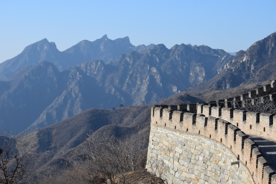 Mutianyu Great Wall of china with toddler