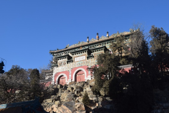 Summer palace Beijing in winter