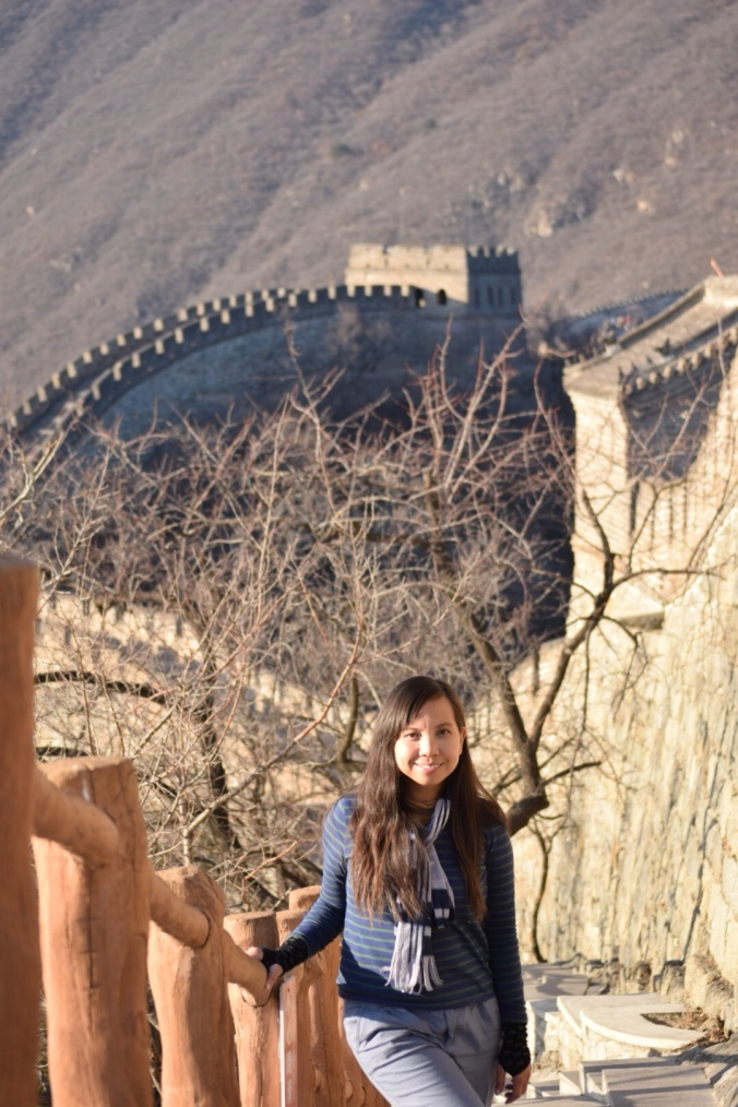 Great Wall of China with toddler