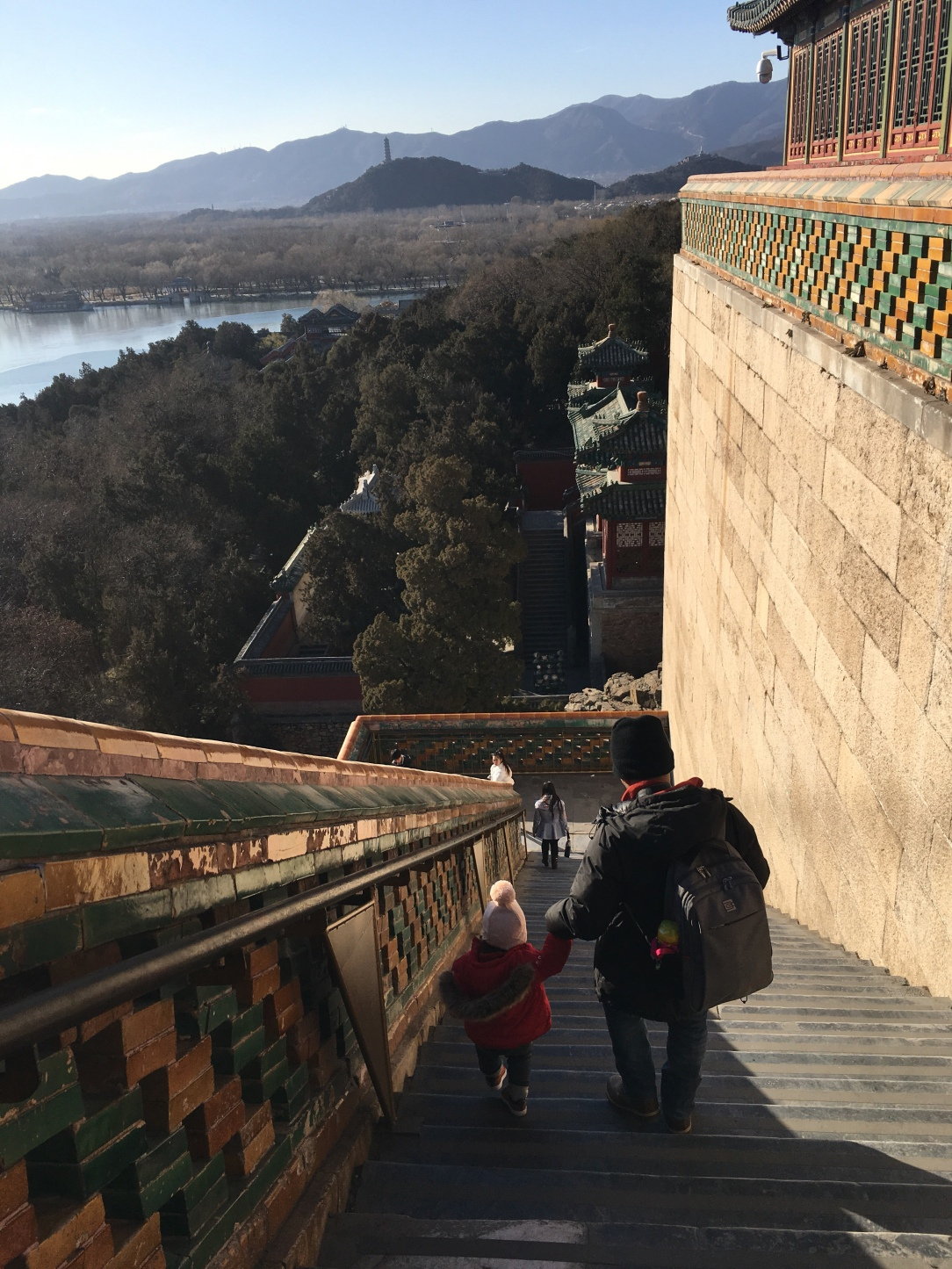 Summer palace with toddler