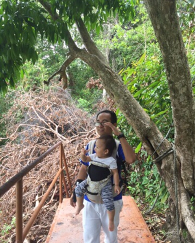 Hiking penang national park with toddler