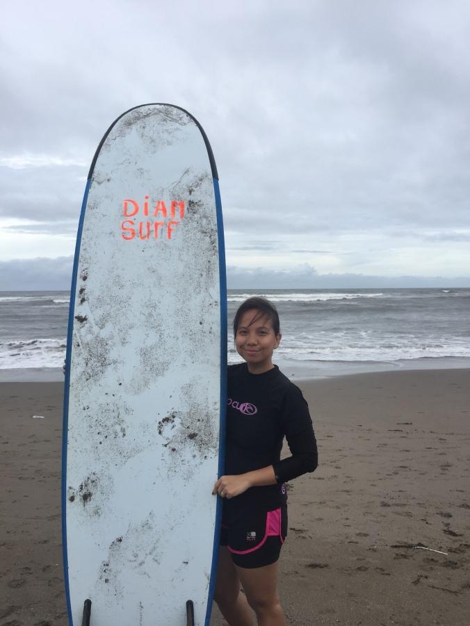 surf in bali , canggu surf