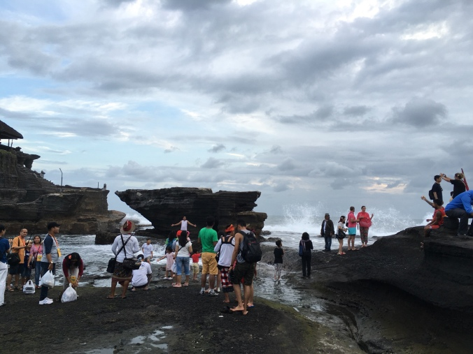 Tanah lot with baby