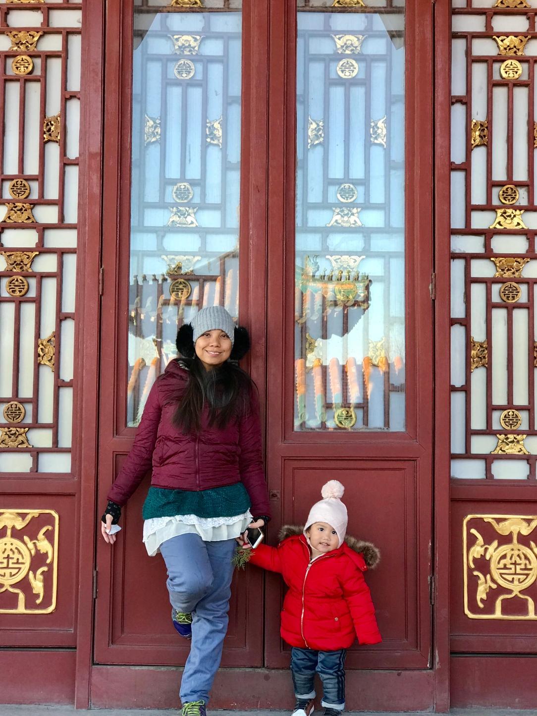 Summer palace Beijing winter