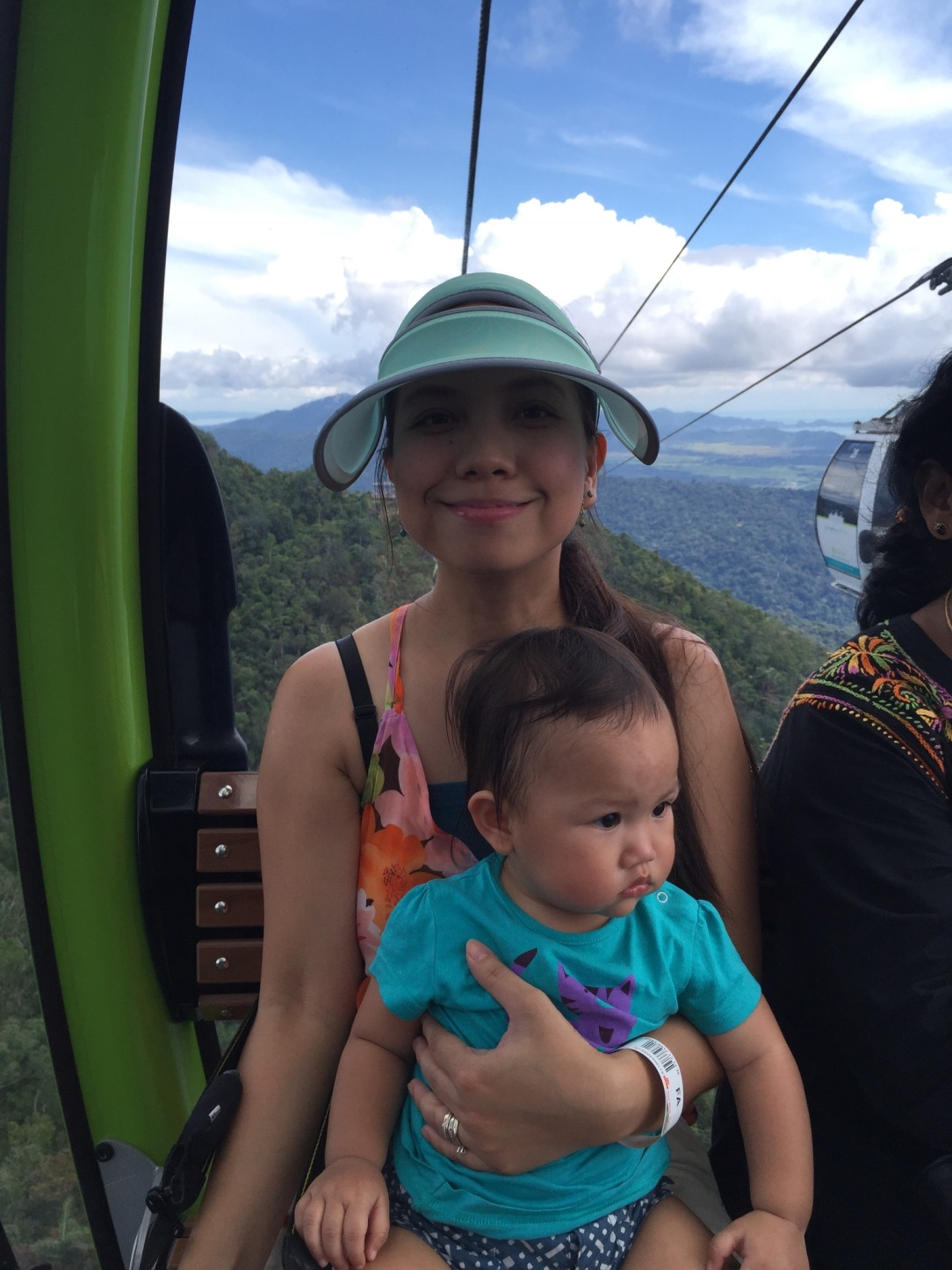 Langkawi cable car with baby